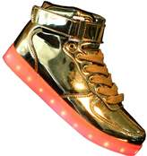 Tricandide Men and Women High Top USB Charging LED Sport Shoes Flashing Sneakers EU 45