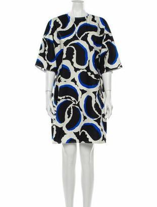 Marni Printed Knee-Length Dress w/ Tags White