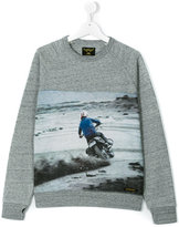 Finger In The Nose Teen biker print sweatshirt