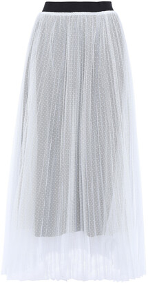 Maje Pleated Point D'esprit Maxi Skirt