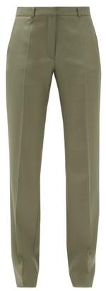 Pallas Paris Gatwick Satin-back Wool-faille Suit Trousers - Khaki