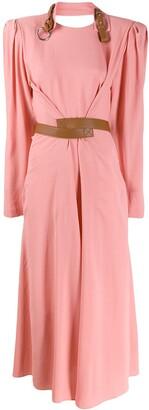 Stella McCartney buckle detail neckline dress