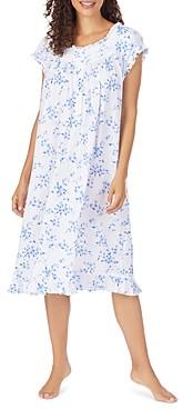 Eileen West Floral Print Pointelle Waltz Nightgown