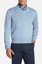 Robert Talbott Men's Classic Fit V-Neck Sweater