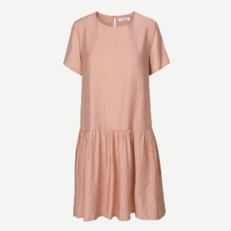 Samsoe & Samsoe Short Sleeved Mille Dress - S . | pink - Ocher/Pink/Pink