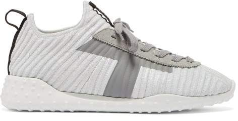 Tod's Low Top Lame Trainers - Womens - Silver