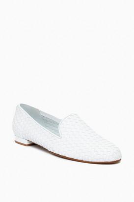 Jon Josef Shoes Gold Woven Trenzado Loafers