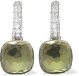Pomellato Nudo 18-karat White Gold, Prasiolite And Diamond Earrings - one size