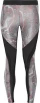 Koral Frame mesh-paneled printed stretch-jersey leggings