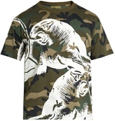 Valentino Panther camouflage-print T-shirt