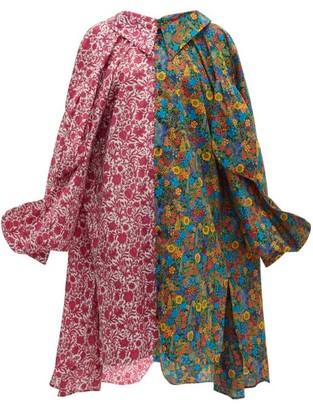 Matty Bovan - Liberty Floral-print Poplin Shirtdress - Womens - Pink Multi