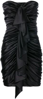 Alexandre Vauthier Ruched Ruffle Trim Dress