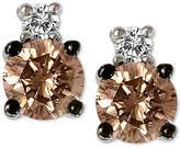 LeVian Le Vian Chocolatier Diamond Stud Earrings (1/3 ct. t.w.) in 14k White Gold