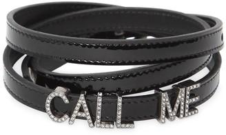 Saint Laurent 10mm Call Me Patent Leather Belt