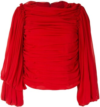 Comme des Garcons Draped Long-Sleeved Blouse