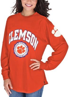Women's Orange Clemson Tigers Edith Long Sleeve T-Shirt