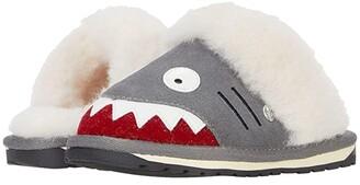 Emu Shark Slipper (Toddler/Little Kid/Big Kid) (Putty) Kid's Shoes
