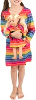 Leveret Rainbow Stripe Nightgown & Matching Doll Nightgown (Toddler, Little Girls, & Big Girls)