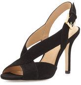 MICHAEL Michael Kors Becky Crisscross Slingback Sandal, Black