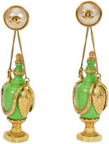 One Kings Lane Vintage 1980s Chanel Rare Green Bottle Earrings