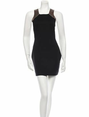 Mason Lambskin Bodycon Dress w/ Tags Black