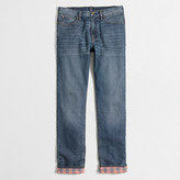 J.Crew Factory Sutton flannel-lined jean