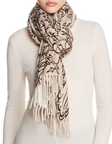 Max Mara Floral Cashmere Scarf