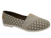 Tan Floral Slip-On Shoe