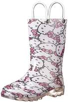Western Chief Girls Hello Kitty Waterproof Character Rain Boots with Easy on Handles,M US Toddler