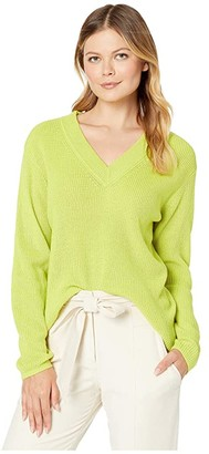 Vince Camuto Long Sleeve Ribbed V-Neck Pullover Sweater