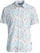 John Varvatos Jasper Short-Sleeve Printed Sport Shirt