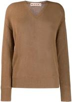 Marni v-neck loose-fit jumper