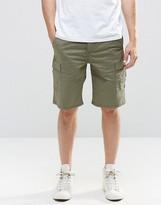 Pull&bear Cargo Shorts In Khaki