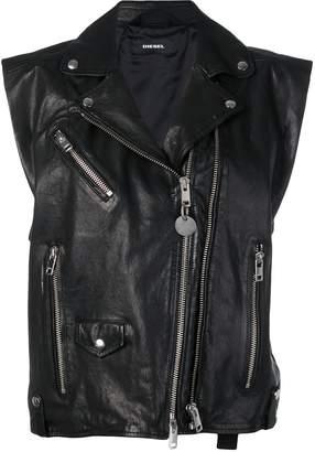 Diesel L-Droppet sleeveless biker jacket