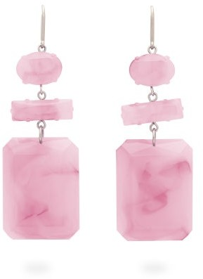 Isabel Marant Marbled Drop Earrings - Pink