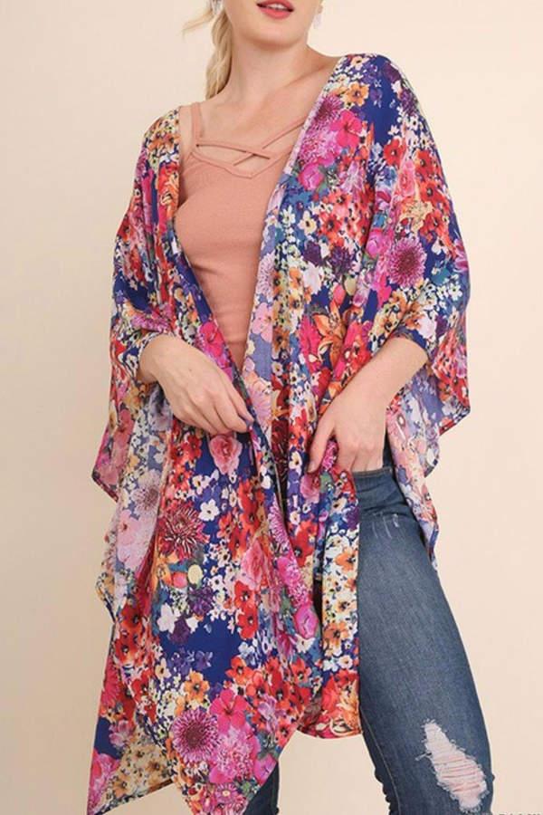 Umgee USA Floral Plus Kimono