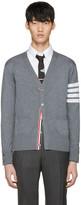 Thom Browne Grey Classic V-neck Cardigan