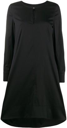 Twin-Set neck-slit midi dress