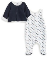 Petit Bateau Infant Boy's Footie & Jacket Set