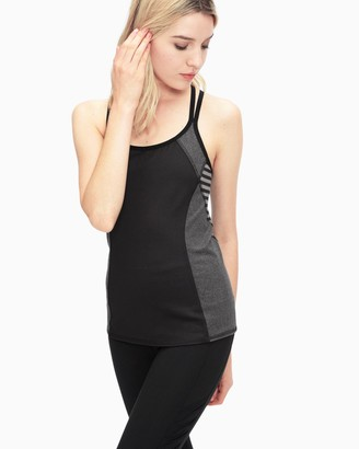 Splendid Yoga Stripe Blocked Studio Tank