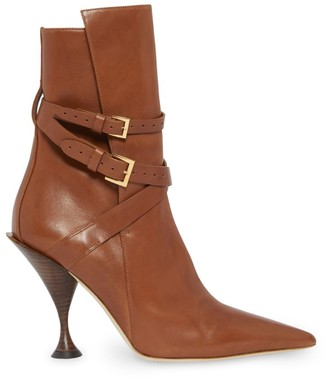 Burberry Hadfield Buckle Leather Ankle Boots