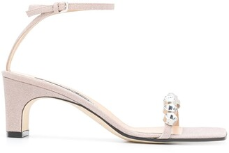 Sergio Rossi SR1 crystal-embellished sandals