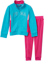 Puma Baby Girl Colorblock Glitter Jacket & Pants Set