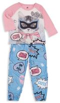 Petit Lem Girl's Two Piece Printed Top & Pants Set