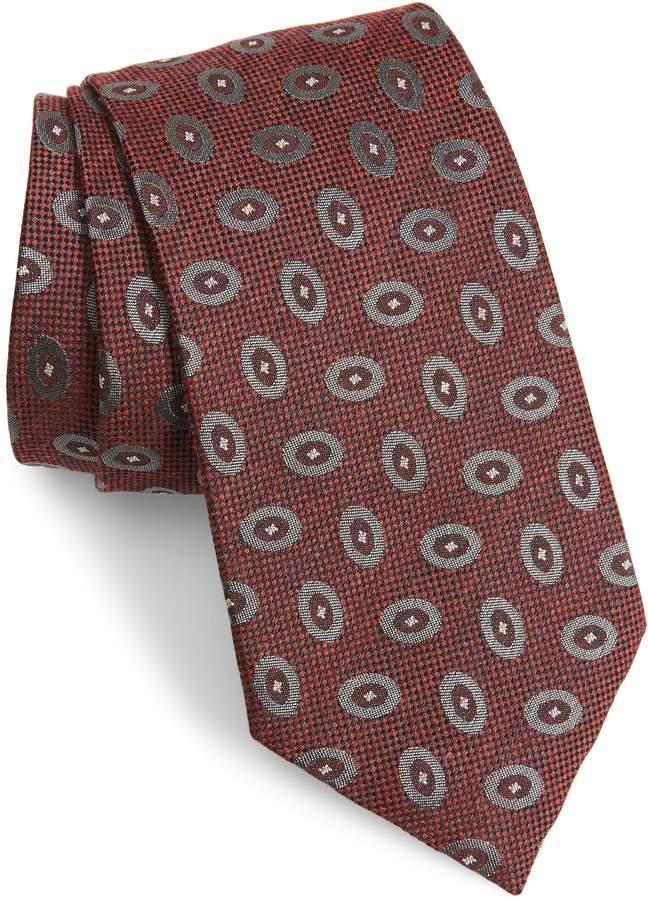 Emporio Armani Medallion Silk Blend Tie