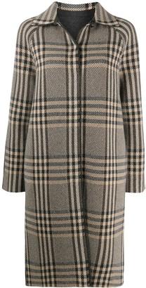 Loro Piana Spread-Collar Check Coat