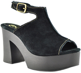 Sbicca Black Mika Leather Platform Sandal