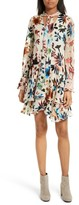 Alice + Olivia Women's Moran Tiered Floral A-Line Dress