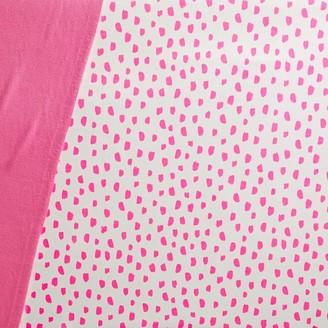 west elm Organic Brushstroke Dot Crib Fitted Sheet - Gray