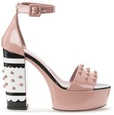 RED Valentino Women's Studded Heeled Sandals Nude